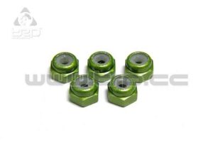 Kyosho MiniZ Monster Tuercas autoblocantes M2 Verde