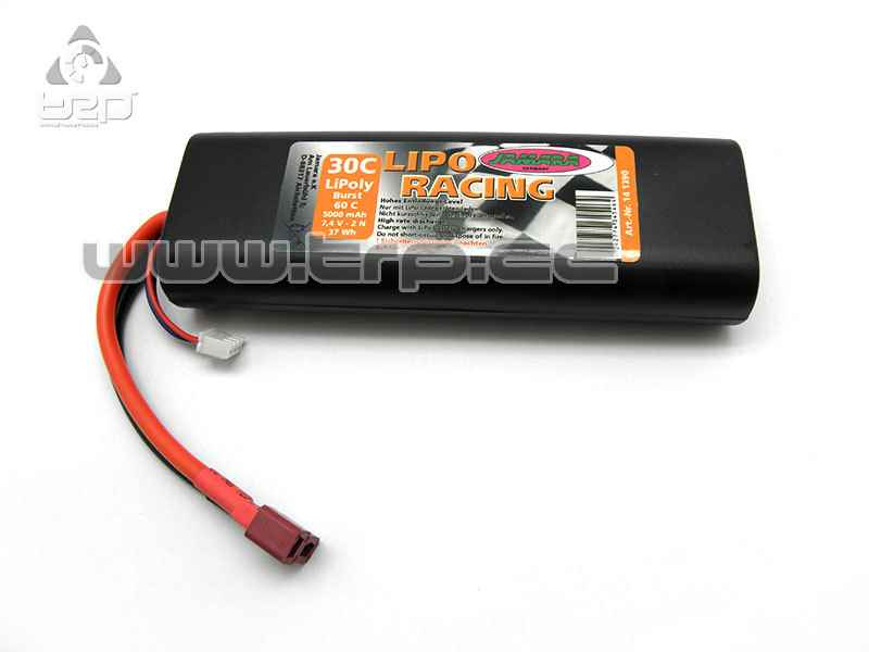 Batterie LiPo Racing 7.4V 500mAh (Connecteur Dean)