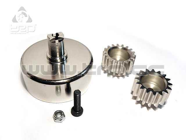Steel pinions 16T and 18T with Clutch Bell