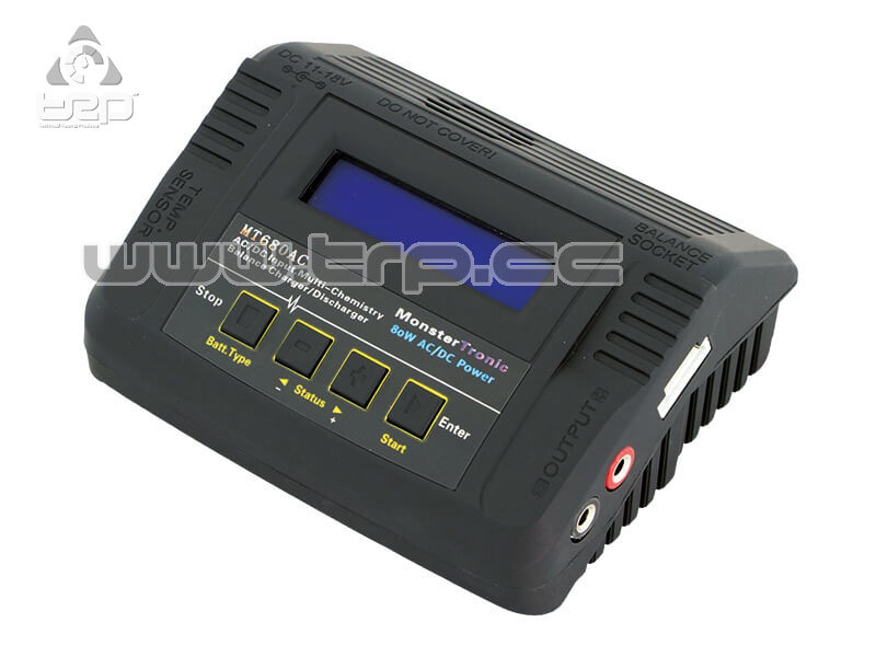 Cargador MT680 220V/12V 6mp Lipo/LiFe/LiIon