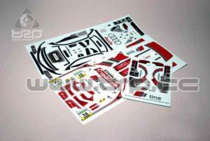 Adhesivos Carrocería Kyosho Pure Ten Audi A4 DTM