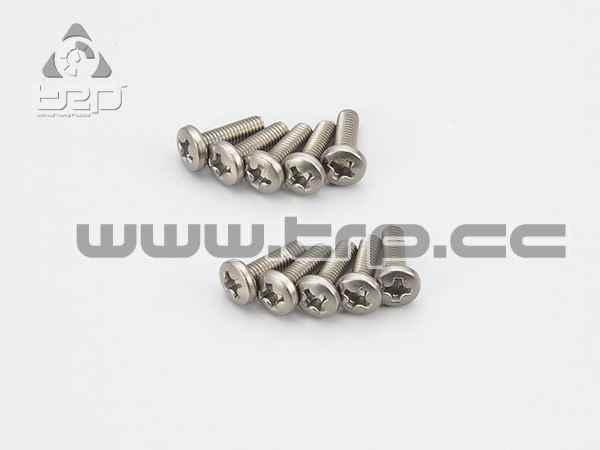 Kyosho Star Tapered Titanium Screws (M3x10)