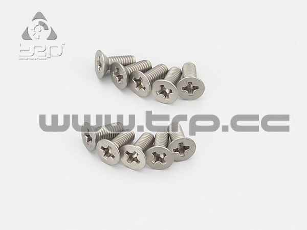 Kyosho Star Tapered Titanium Screws (M3x8)