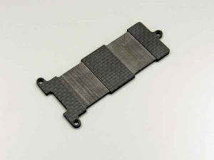 Kyosho V-One-R4 Soporte de batería en carbono