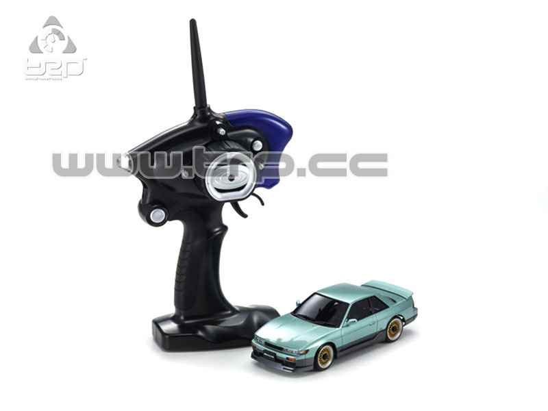 32134GT-B  MINI-Z MA-020S NISSAN SILVIA S13 Aero with LED Lime G