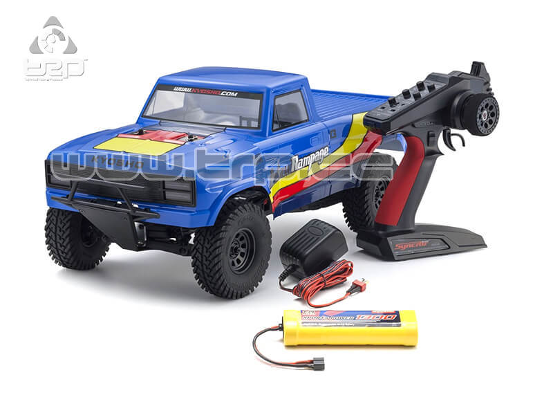OUTLAW RAMPAGE 1:10 EP 2WD TRUCK (KT231P) T2 AZUL READYSET