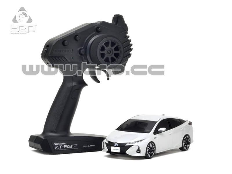 Mini-Z FWD TOYOTA PRIUS PHV WHITE PEARL CRYSTAL SHINE (MA-03F/KT
