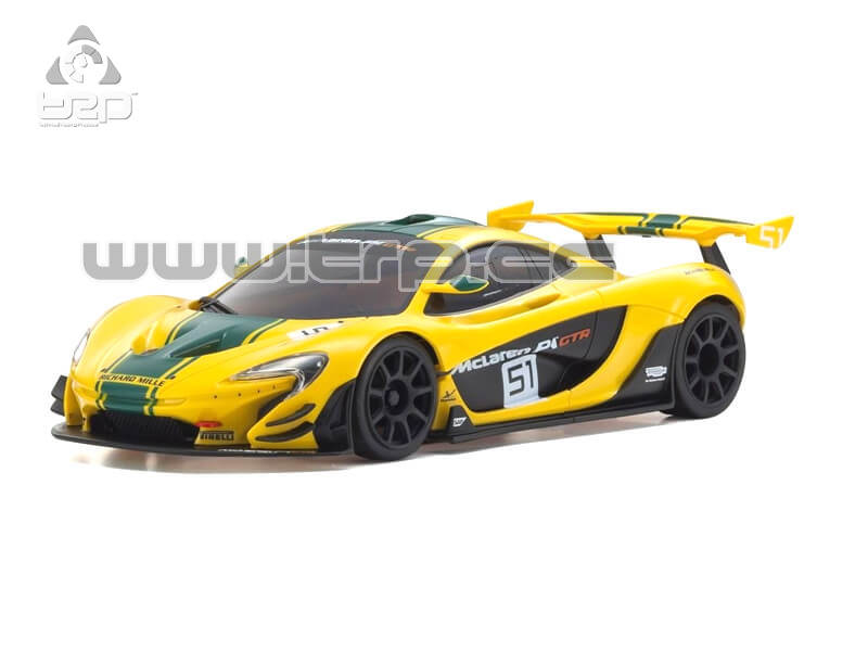 Mini-Z RWD McLAREN P1 GTR YELLOW/GREEN (W-MM/KT531P)
