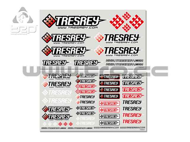 Tresrey Racing Decal Sheet