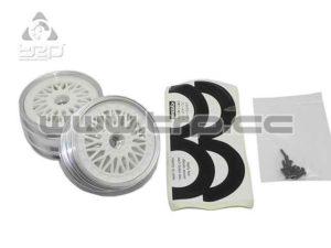 kyosho Llantas Escala 1:10 BBS B AD60 B35 White (Delanteras)