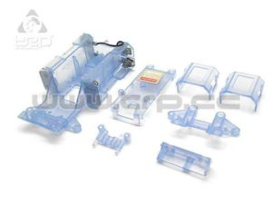 Kyosho MiniZ MR01 Chasis Skeleton Azul Transparente