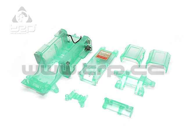 Kyosho MiniZ MR01 Skeleton Chasis Set Clear Green