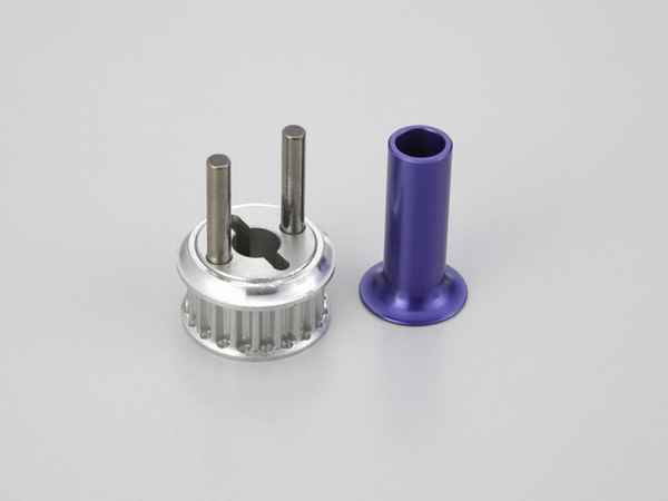 Kyosho V-One-RR Aluminum Drive Pulley & Double Disk Hold.