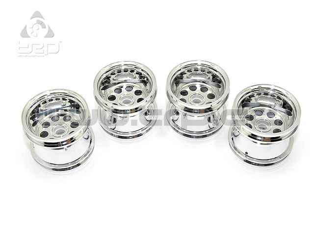 Kyosho MiniZ Monster Wheel Set Mad Force Chrome