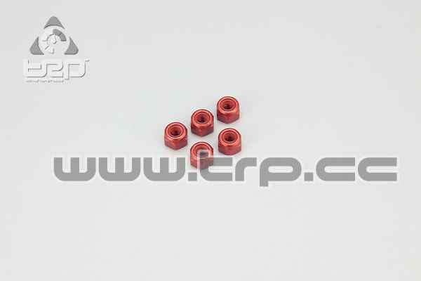 Kyosho M3 Aluminium Nylon Nut(Red)5pc