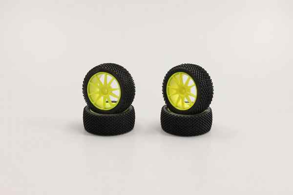 Kyosho Mini Inferno Tire Micro Block Yellow