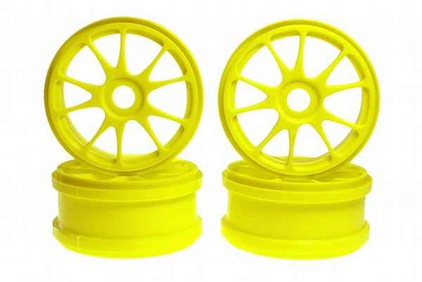 Kyosho Inferno MP7 Ten Spoke Wheel Fl. Yellow 4units