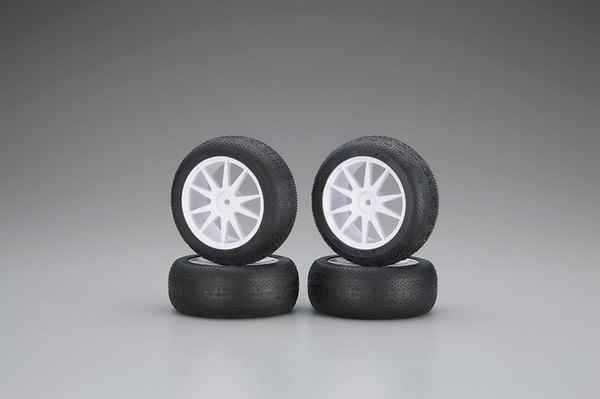 Kyosho Mini Inferno Micro-X Tire with Wheel White 4 units