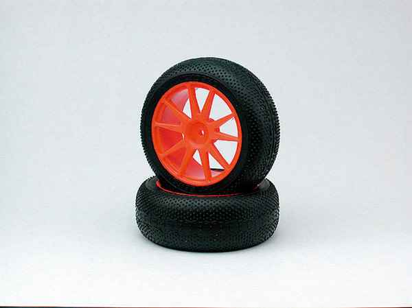 Kyosho Mini Inferno Micro-X Tire with Wheel Red 4 units