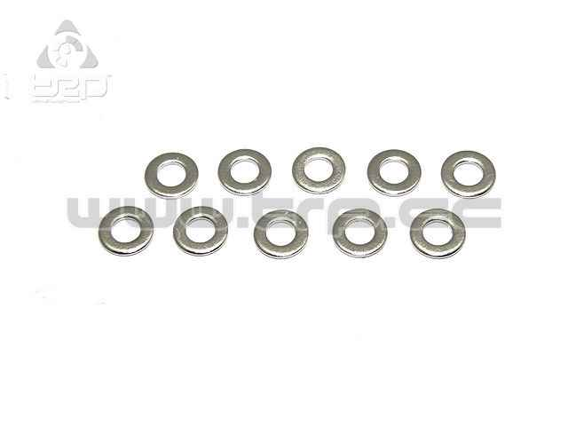 Team Durango Shock Piston Washer: Chrome 2.5mmID (10pcs)
