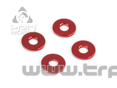 Team Durango  ALUMINIUM SPACER 8x3x1.00mm (4pcs)(RED)