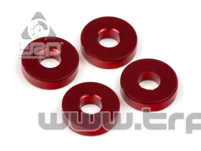 Team Durango Aluminim Spacer 8x3x2mm (4u) Red