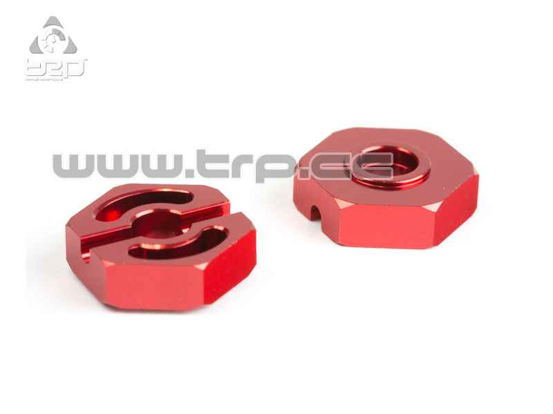 Team Durango Hexagono 14mm Aluminio Rojo
