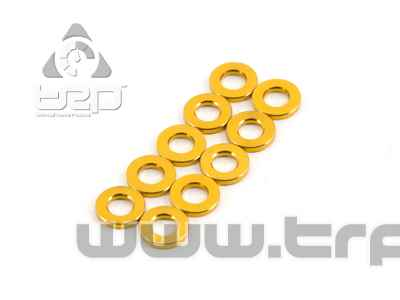 Team Durango ALUMINIUM SPACER 6x3x1MM (GOLD, 10pcs)