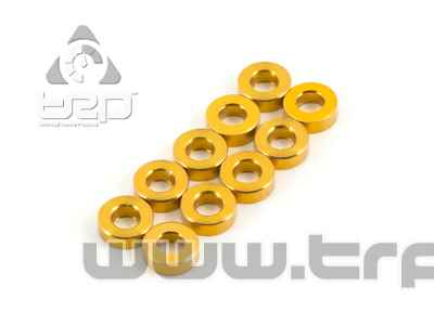 Team Durango ALUMINIUM SPACER 6x3x2MM (GOLD, 10pcs)
