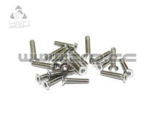 Tornilleria MiniZ (M2x10 20pcs) Avellanado/Hex/Acero para Aluminio