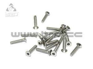 Tornilleria MiniZ (M2x10 20pcs) Cónico/Hex/Acero para plastico