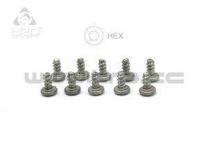 Tornillos M2X4 Pn Racing Titanio Hex (10u) Plastic para MiniZ