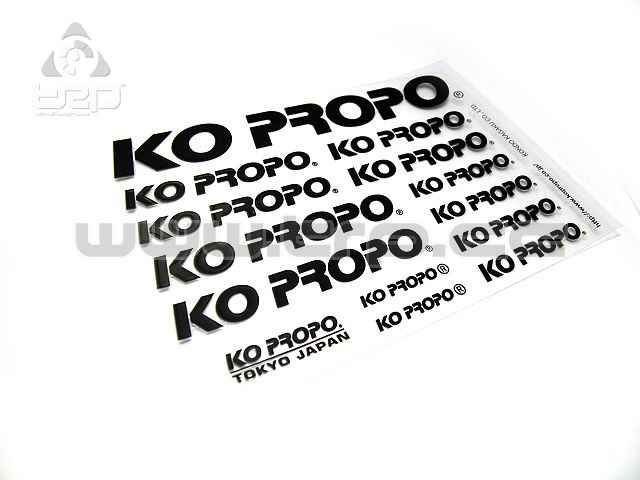 KO PROPO Factory Decal (Transferable) Black