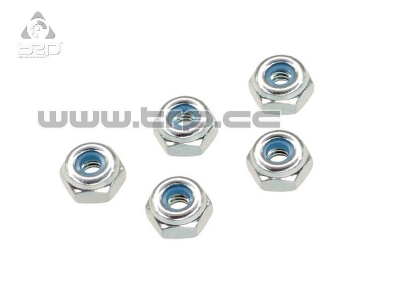 Tuercas Autoblocantes de aluminio plata