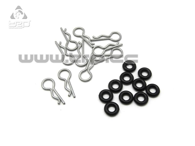 GL Racing Clips de carrocería Lexan de 0.8mm