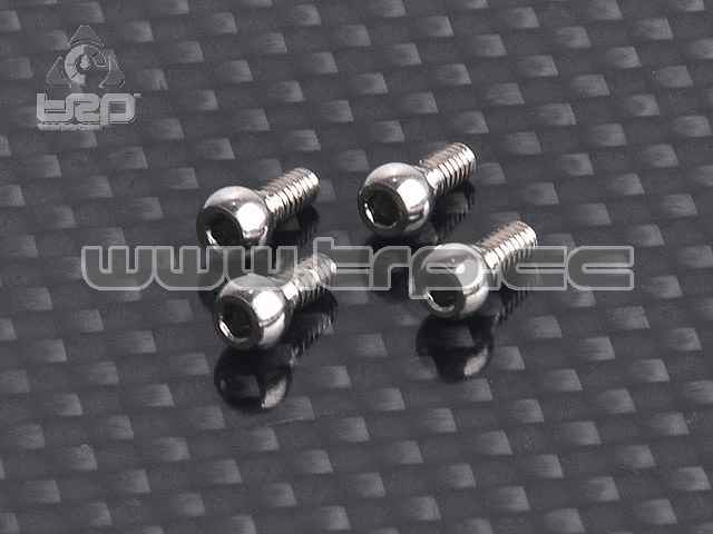 3.5mm Rear Toe In Ball Head (4 pcs)(RC Atomic)