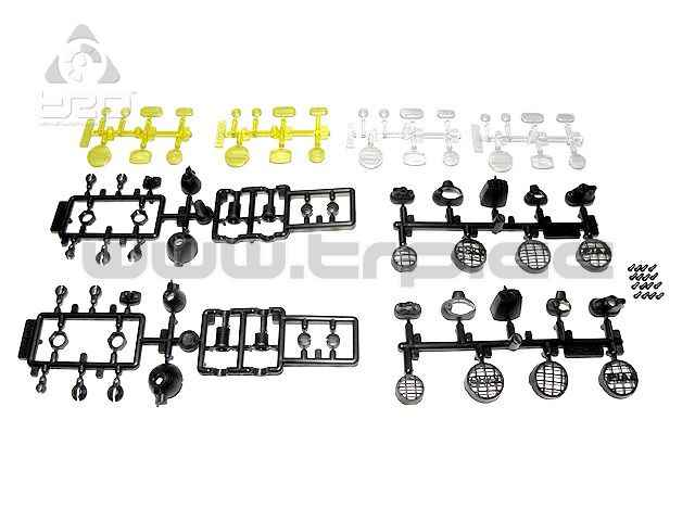 Copas de luces 7 tipos diferentes para Led 3 y 5mm Crawler Escal