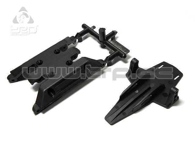 Patinador del chasis y Bat Mount Crawler Axial XR10