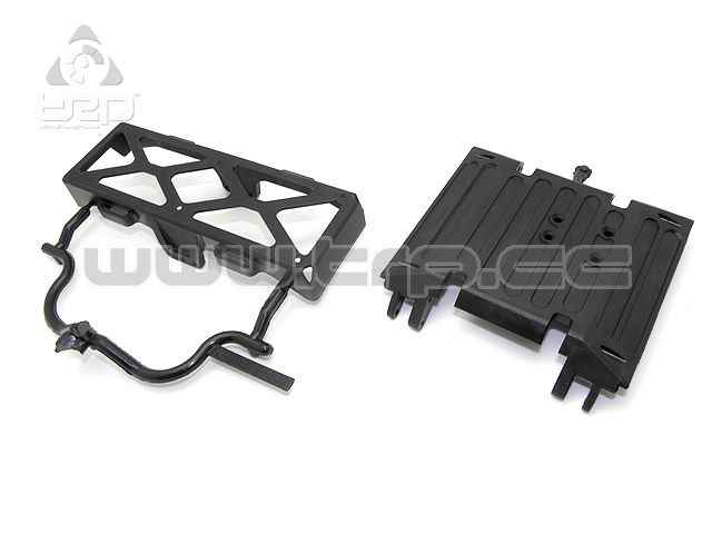 Axial Wraith Tube Frame Skid Plate/Battery Tray