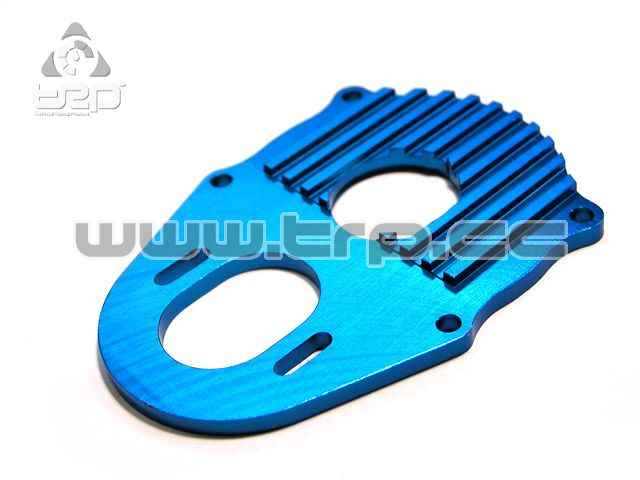 Tamiya CR01 Alum Heat sink plate blue