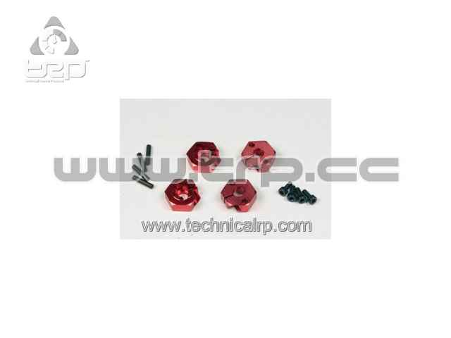 TOP Scythe Clamp Type 5.2 Hex Wheel Adapter Set (Red)