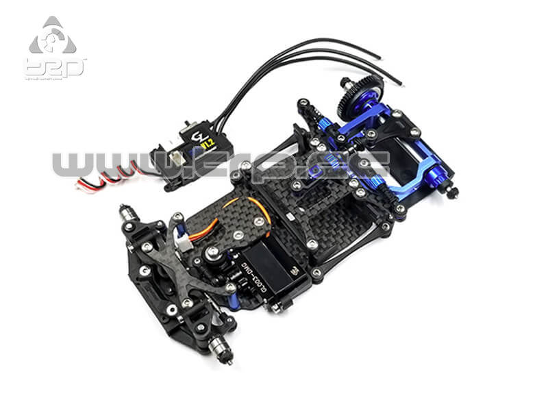 GLR MiniZ 1:28 2WD Chassis Without Receiver