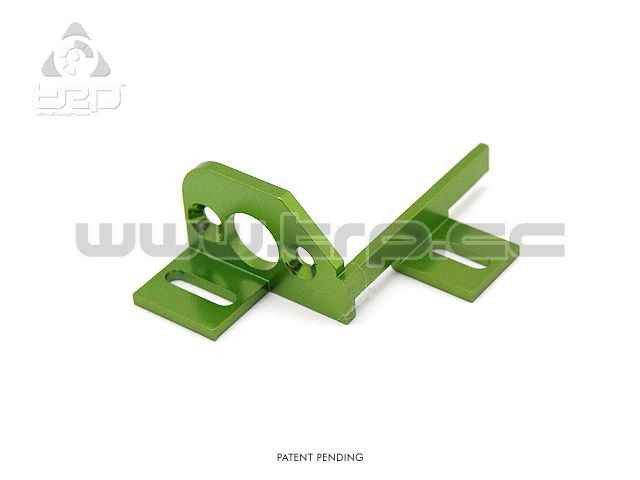 Slot GroupZ TRPscale Aluminium Motor Mount green color