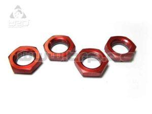 Tuercas Autoblocantes Aluminio con Nylon Kyosho MP9 Red