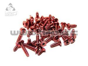 Tornilleria Kyosho en aluminio Rojo para MiniZ F1
