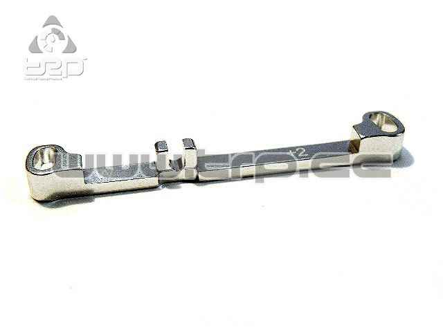 PN Aluminium Steering Bar Wide Toe-in +2.0 for MR03