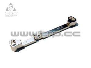 Barra de dirección (Ancha) Toe-in +1.5 Plata MiniZ MR03
