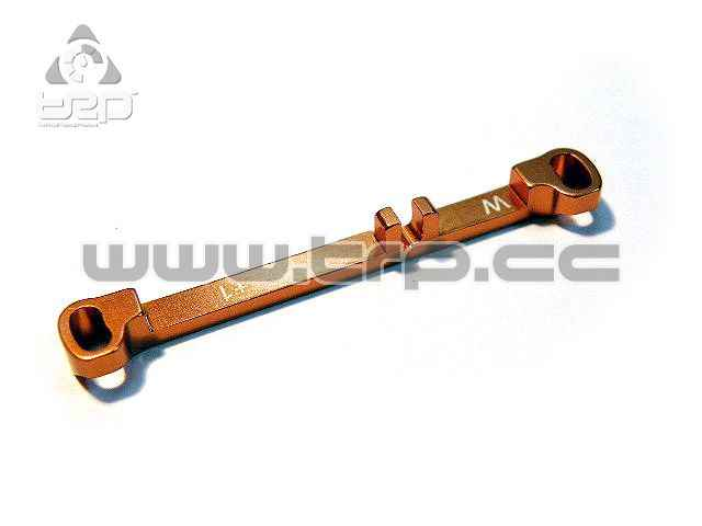PN Aluminium Steering Bar Wide Toe-in +1.0 for MR03