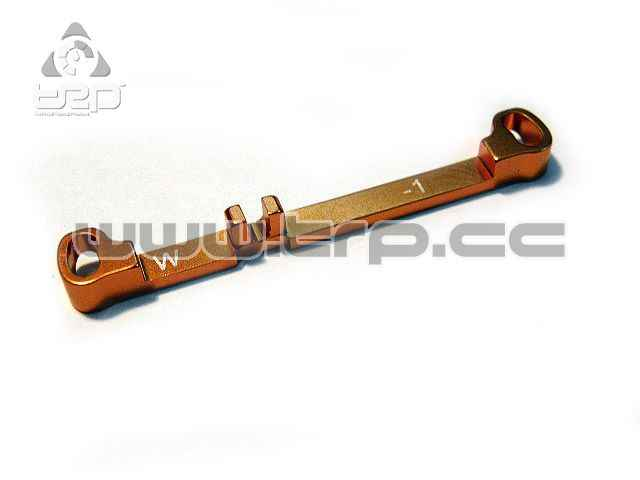 PN Aluminium Steering Bar Wide Toe-Out -1.0 for MR03