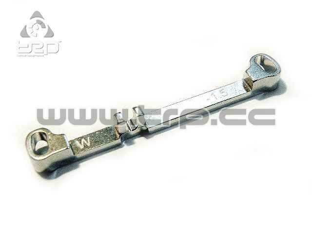 PN Aluminium Steering Bar Narrow Toe-Out -1.5 for MR03